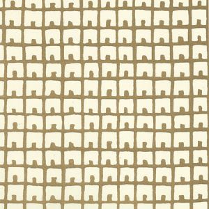4040-07WP FEZ BACKGROUND Gold Metallic Off White Quadrille Wallpaper