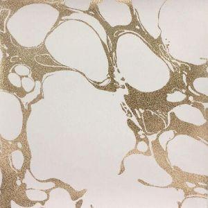 50306W LIVIA White Gold Fabricut Wallpaper