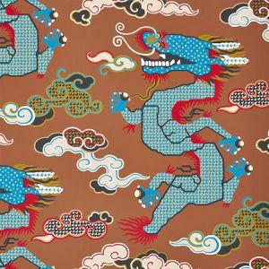 5010602 MAGICAL MING DRAGON Brown Schumacher Wallpaper