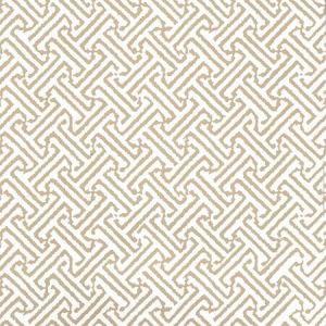622-25 JAVA PETITE Taupe On White Quadrille Wallpaper