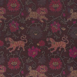 62683 KHOTAN WEAVE Aubergine Schumacher Fabric