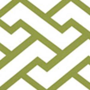 6340-16WWM AGA Apple Green On White Matte Quadrille Wallpaper