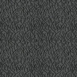 SWAYING REEDS Black Rock Fabricut Fabric