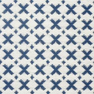 77200 ELIAS Blue Ivory Schumacher Fabric