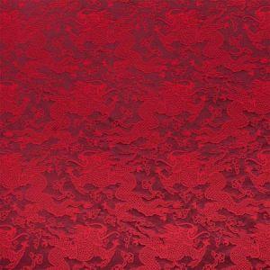 78101 RUAN DRAGON DAMASK Garnet Schumacher Fabric