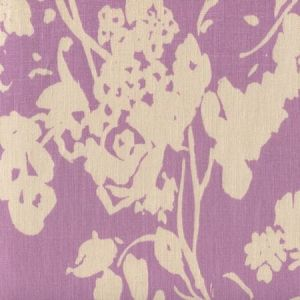 8130T-08 SILHOUETTE REVERSE Lavender on Tan Custom Only Quadrille Fabric