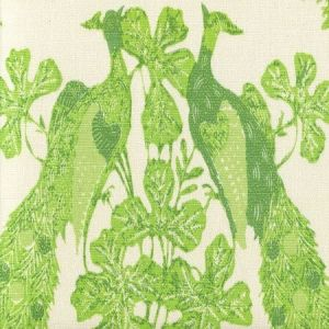 8270-06 PEACOCK BATIK Multi Greens on Tint Quadrille Fabric