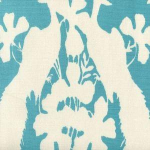 8330-09 PEACOCK BLOTCH New Blue on Tint  Quadrille Fabric
