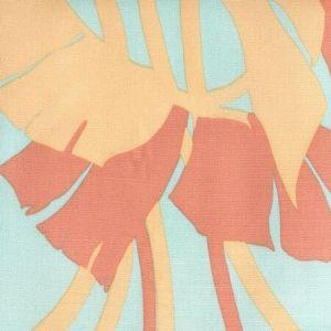 8380-03 AMAZON II Peach with Aquas Quadrille Fabric