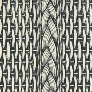 8400-01 NEWPORT RATTAN Black Gray on Tint Quadrille Fabric