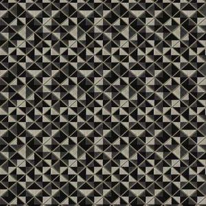 STAFF DIAMOND Noir Fabricut Fabric