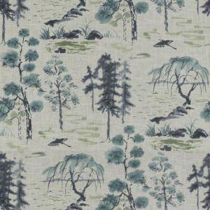 VALLEY OF TEA Lapis Fabricut Fabric