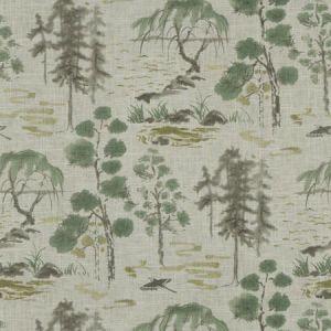 VALLEY OF TEA Celadon Fabricut Fabric