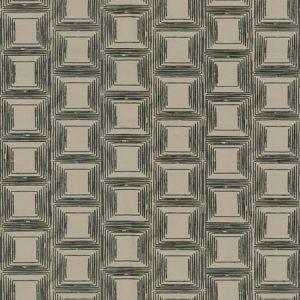 KLEIN SQUARE Graphite Fabricut Fabric
