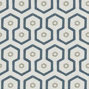 NARVA FRINGE Blue Fabricut Fabric