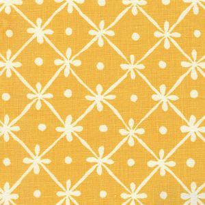 9955-03 GATE HOUSE REVERSE ONE COLOR Inca Gold On Light Tint Quadrille Fabric