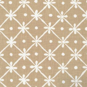 9955W-20 GATE HOUSE REVERSE ONE COLOR Beige On White Oyster Quadrille Fabric