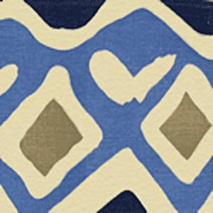 AC103-14 CAP FERRAT Multi Blues on Tint Quadrille Fabric
