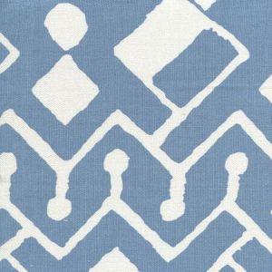 AC107-14W SAHARA French Blue on White Quadrille Fabric