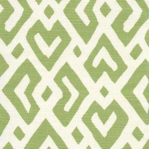 AC115-03 JUAN LES PINS Jungle Green on Tint Quadrille Fabric