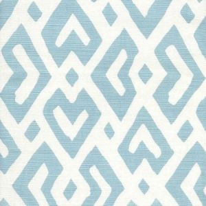 AC115-04 JUAN LES PINS Bali Blue on Tint Quadrille Fabric