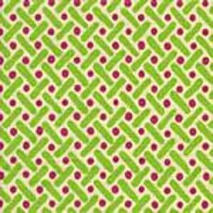 AC200-03 KELLS II Magenta Green on Tint Quadrille Fabric