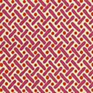 AC200-04 KELLS II Orange Magenta on Tint Quadrille Fabric
