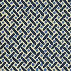 AC200-09 KELLS II French Blue Navy on Tint Quadrille Fabric