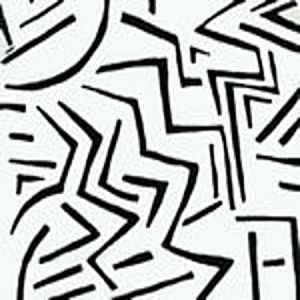 AC204-21 LASCAUX Black on White Quadrille Fabric