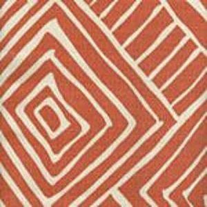 AC206-34 MELINDA New Shrimp on Tint Quadrille Fabric