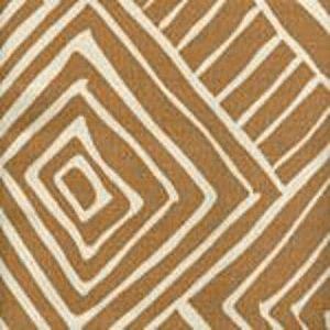 AC206-35 MELINDA Camel II on Tint Quadrille Fabric