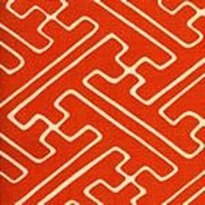AC207-20 SAYA GATA Orange on Tint Quadrille Fabric