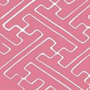AC207-23 SAYA GATA Pink on Tint Quadrille Fabric