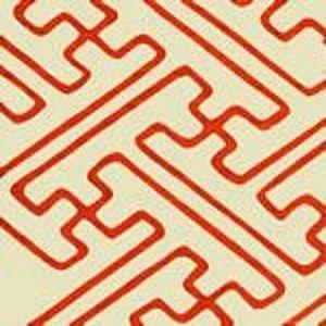 AC207-45 SAYA GATA Orange Lines on Tint Quadrille Fabric