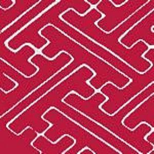 AC207-601 SAYA GATA Magenta on White Quadrille Fabric
