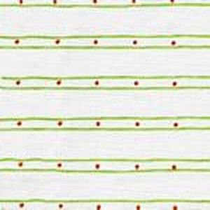 AC209-04 SOHO Jungle Green Orange on White Quadrille Fabric