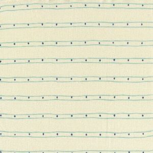 AC209-06 SOHO Turquoise Navy on Tint Quadrille Fabric