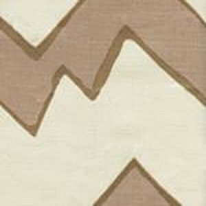 AC260-03 MONTECITO ZIG ZAG Taupe on Tint Quadrille Fabric