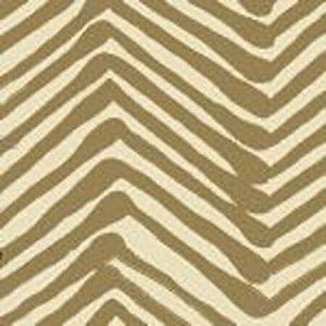 AC302-11 ZIG ZAG Taupe on Tint Quadrille Fabric