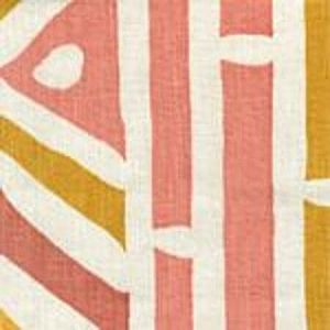 AC602-05 ANTIBES Terra Gold Yellow Quadrille Fabric