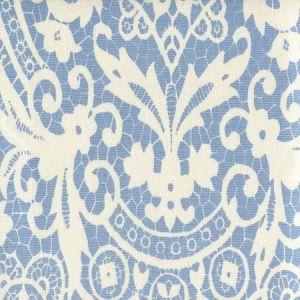 AC870-01 NEW BROMPTON Sky Blue on Tint Quadrille Fabric