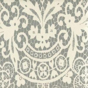 AC870-07 NEW BROMPTON Dark Grey on Tint Quadrille Fabric