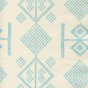AC890-03 VACANCES Turquoise on Tint Quadrille Fabric