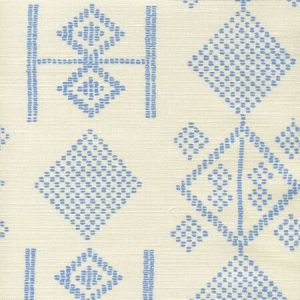 AC890-05 VACANCES French Blue on Tint Quadrille Fabric
