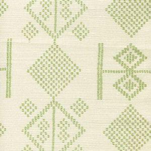 AC890-06 VACANCES Jungle Green on Tint Quadrille Fabric