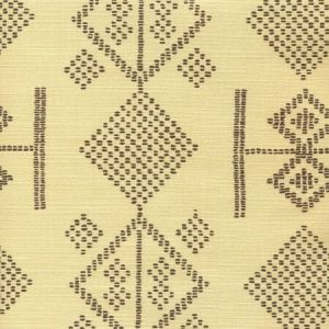 AC890ST-BROWN VACANCES Brown on Biscuit Quadrille Fabric