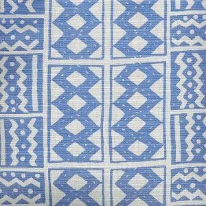 AC930-03 TIE DYE French Blue Quadrille Fabric