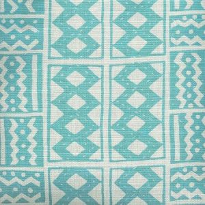 AC930-07 TIE DYE Turquoise Quadrille Fabric