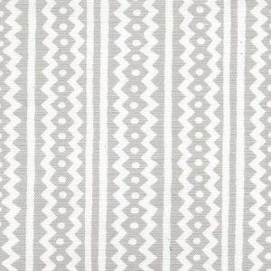 AC935WH-03 RIC RAC Pale Gray On White Linen Cotton Quadrille Fabric