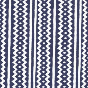 AC935WH-CSTI RIC RAC New Custom Indigo On White Linen Cotton Quadrille Fabric